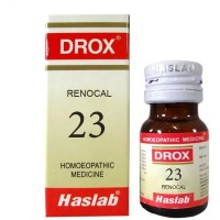 Haslab DROX 23 (Renocol Drops - Kidney Stone) (30ml) : For Renal Calculi,Pain Extending to Back, Red, Painful, Burning Urine
