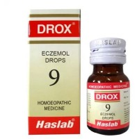 Haslab DROX 9 (Eczemol Drops - Eczema) (30ml) : For Eczemas with Itching, Thick Scales, Skin Rash, Herpes