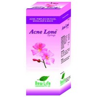 New Life Acnelone Syrup (100ml) : For Acne, Pimples on Face and Back, Skin Rashes, Pustules, Boils