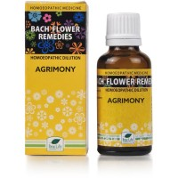 New Life Bach Flower Agrimony (30ml) : For Cheerful, People with Worries Behind Their Humour