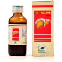 New Life Heptolive Syrup (100ml) : Effective in Enlarged & Fatty Liver, Jaundice, Nausea, Loss of Appetite