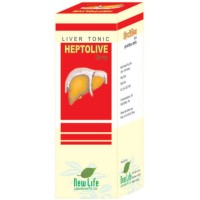 New Life Heptolive Syrup (450ml) : Effective in Enlarged & Fatty Liver, Jaundice, Nausea, Loss of Appetite