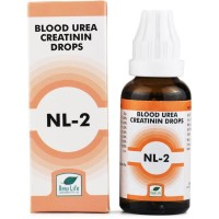 New Life NL-2 (Blood Urea And Creatinin Drops) (30ml) : For Pain in Kidney, Chronic Nephritis, High Creatinine Levels, Edema