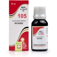 REPL Dr. Advice No 105 (Worms) (30ml) : All kinds of Worms including Tape Worm, Round Worm, Thread Worm etc.