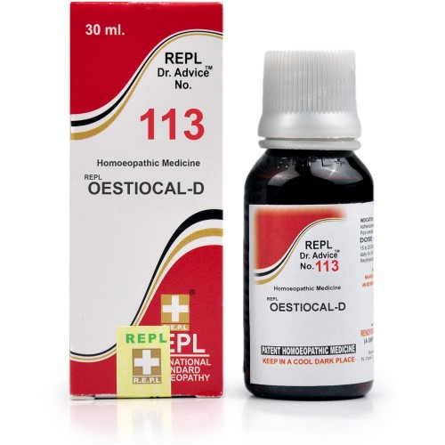 REPL Dr. Advice No 113 (Oestiocal-D) (30ml) : Calcium Supplement for Men, Weak Bones, Joint Pain in Old Age