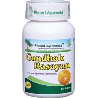 Planet Ayurveda's Gandhak Rasayan Tablets (120) - Blood Purifier, Skin Care