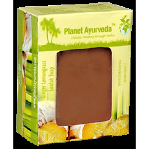 Planet Ayurveda's Ginger Lemongrass Loafah Soap 100g (2 Bars)
