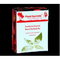 Planet Ayurveda's Strawberries & Jasmine Natural Handmade Bar 100g (2 Bars)