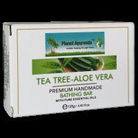 Planet Ayurveda Tea Tree-Aloe Vera Premium Handmade Bathing Bar 125gm (2 Bars)