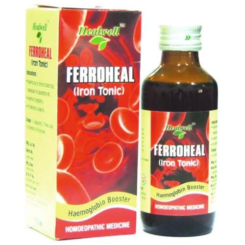 Healwell Ferroheal Liquid (110ml) : Useful in Anemia, Iron Deficiency, Weakness, Tiredness