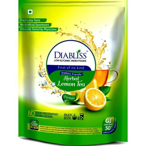 DiaBliss Herbal Diabetic Friendly Lemon Tea 500g - Low Glycemic Food - Pack of 2 - Combo Pack