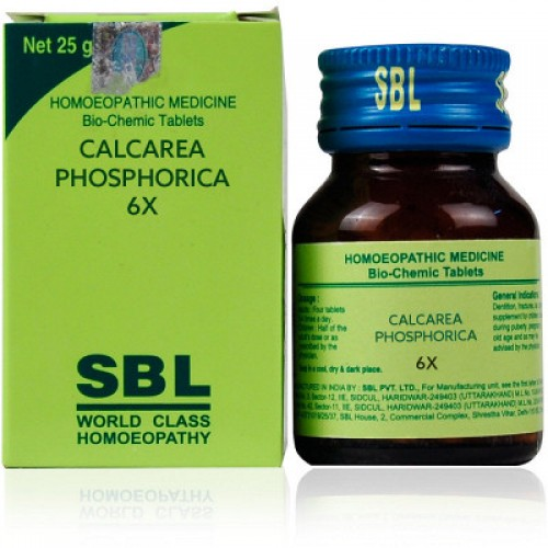 Sbl Calcarea Phosphorica 6x (25g)  For Delayed & Dentition Walking, Useful In Fracture, Joint Pains, Weakness