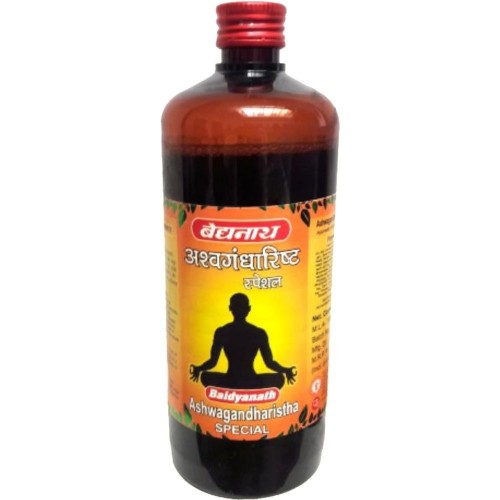 Baidyanath Ashwagandharishta (Special) (450ml) : Nervine Tonic for Weakness, Nervous Debility, Sleeplessness and Weak Memory.
