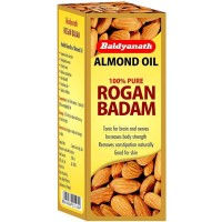 Baidyanath Rogan Badam (100ml) : This purified almond oil is beneficial for skin and hair problems, nourishes the skin deeply