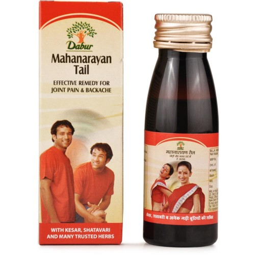 Dabur Mahanarayan Tail (50ml) : Ayurvedic formulation which addresses the issues like Joints Pain, Muscular Stiffness, Backache, Knee Pain