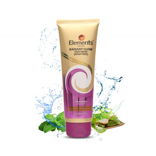 Elements Radiant Glow Face Wash | Gel-based | Soap-free | 100 Gm
