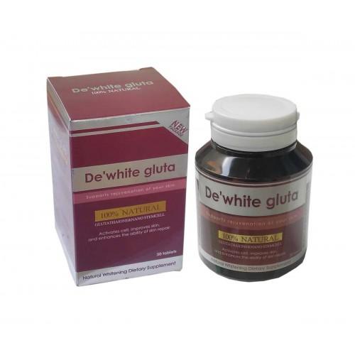 De White Gluta Glutta Thione And Natural Stemcell Soft Gels 30 Capsules