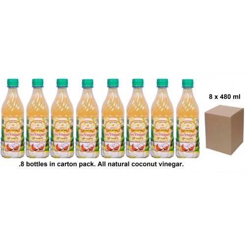 Coconut Vinegar (cocovinegar) 480ml - Made From Coconut Water - 8 Bottles In Carton Pack